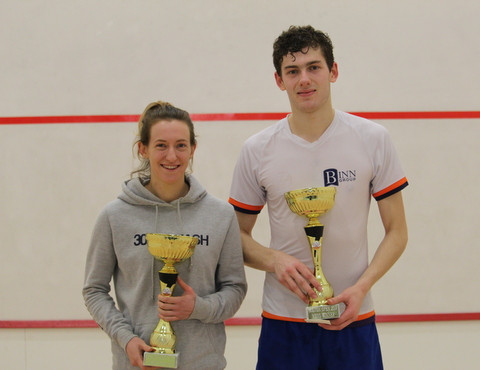 Last year's winners Millie Tomlinson and Rory Stewart