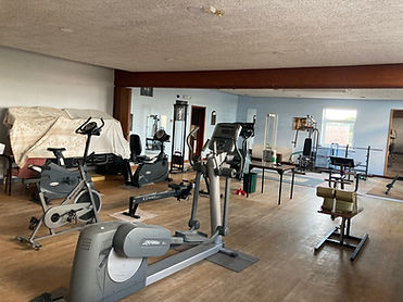 The club also has a spacious gym available for members