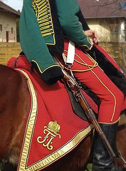 Karabély viselése lovon