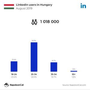 Magyarországi Linkedin felhasználók 2019 augusztusában-Hyper Marketing Győr-közösségi média marketing Győr