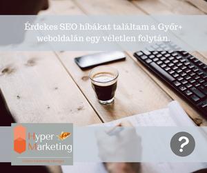 SEO problémák a Győrplusz weboldalán