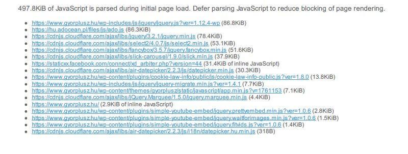 Győr+ CSS és JavaScript technikai seo hibák