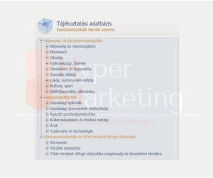 online marketing Győr piac kutatás-KSH adatok menüpontja
