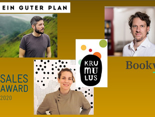 Anna Morlinghaus, Jan Lenarz sowie Jens Klingelhöfer erhalten den SALES AWARD 2020