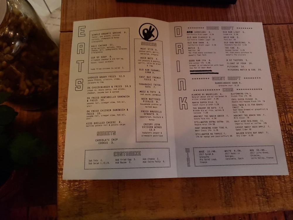 menu Pic