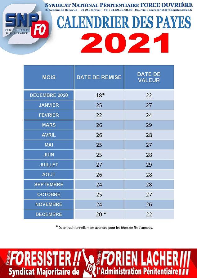 20201030 - Communiqué National - Calendr