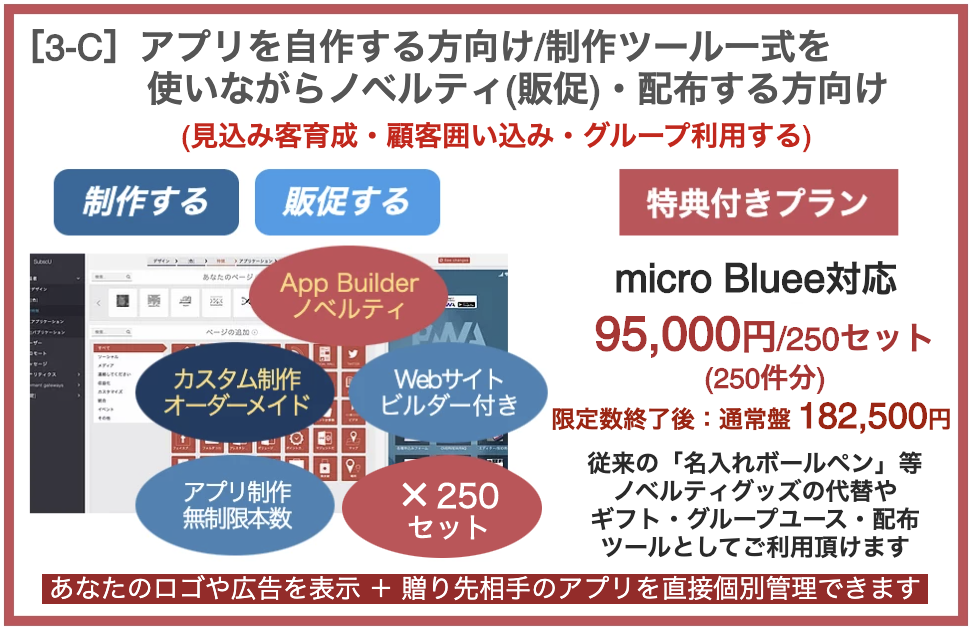 プラン[3-C]自作+ノベルティ(販促)・配布サービス