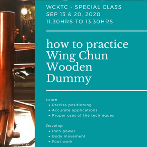 Special Class - Wooden Dummy Introduction on September 13 & 20, 2020