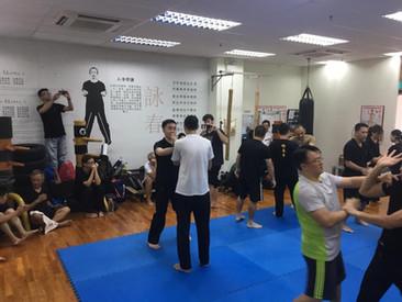 Everyone had Fun with the Taiji Exchange Class!