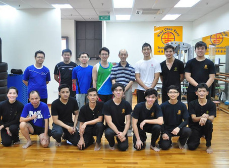 Daryl Yeo Presents His Students During 2nd Year Meeting With Sifu Chua Kah Joo (8 June 2014)