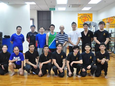 Daryl Yeo Presents His Students During 2nd Year Meeting With Sifu Chua Kah Joo (8 June 2014)