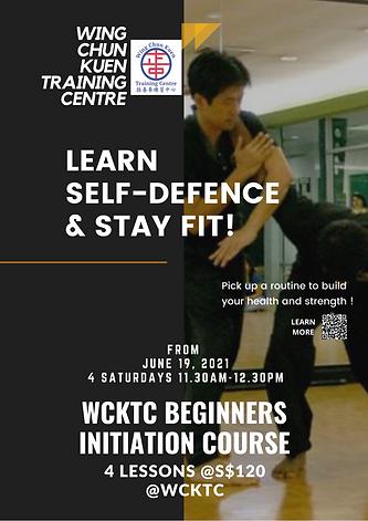 WCKTC Beginners Initiation Course Flyer.