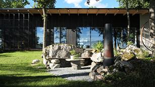 Modernistisk skogsträdgård   FALKABACKEN