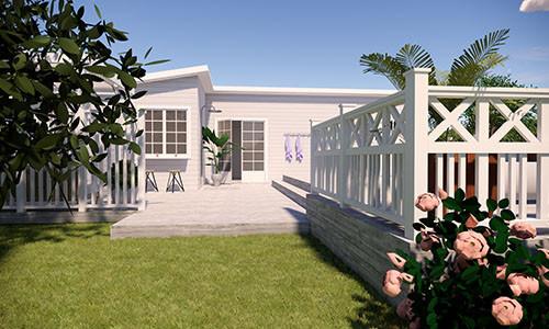 Trädgård i flera etager | VILLA WIJK