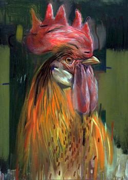 oil pastel chicken