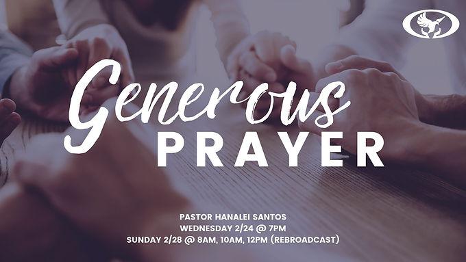 GENEROUS PRAYER