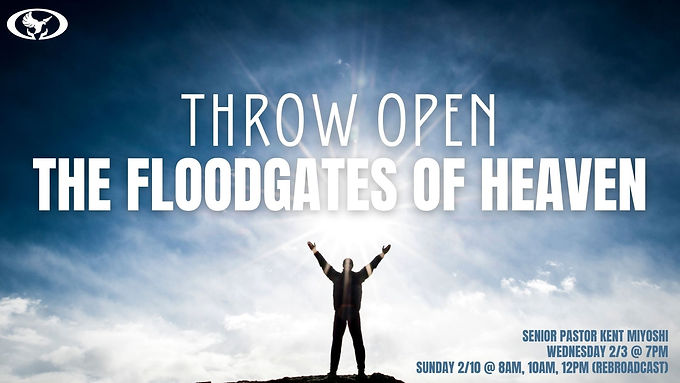 Throw Open the Floodgates of Heaven