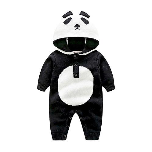 Knitted Panda Romper