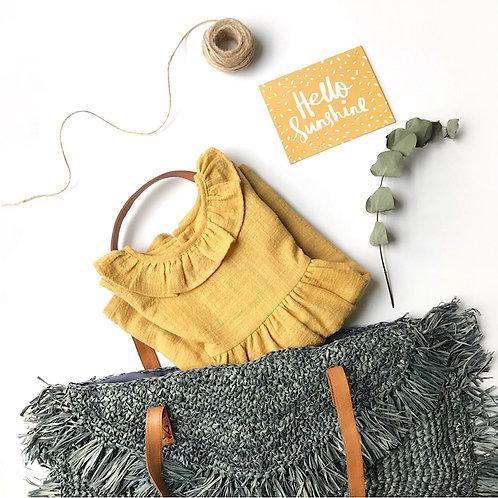 Little Doll Dress - Mustard Yellow