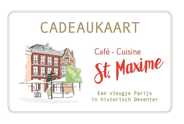 cadeaukaart st maxime in Deventer