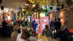 Presentatie bij St Tropez in Deventer voor binnenstadsfonds