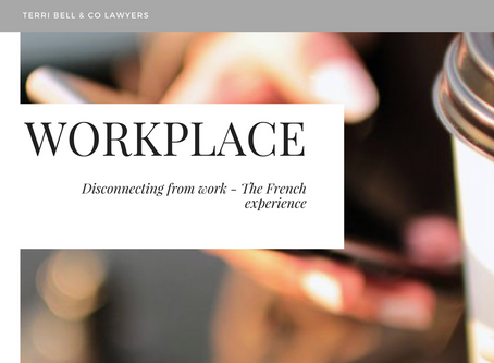 The right to disconnect from work: Comparing the French experience with Australia