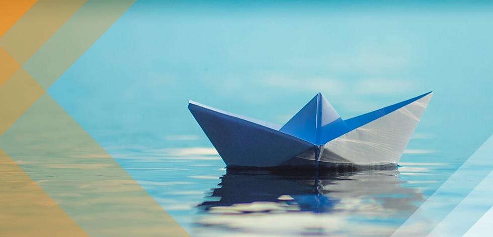 Origami Boat. Represents the fragile nature of our environment.