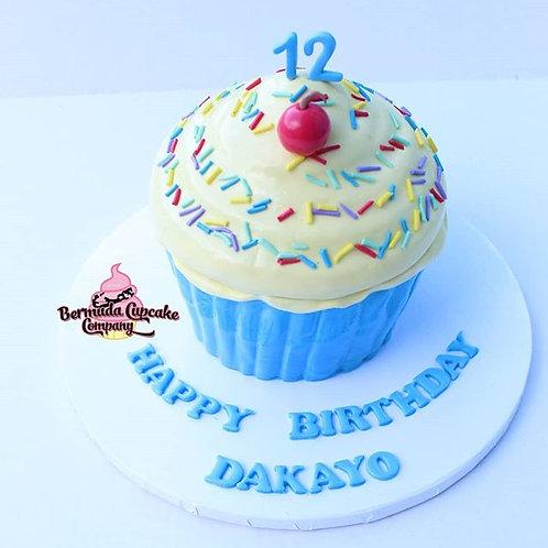 7x7 Giant Cupcake Cake