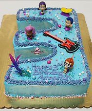 Bubble Guppies #3 Shape Birthday Cake 🐟