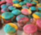 Naked Lemon Rainbow Mini Cupcakes 🍥_•_T