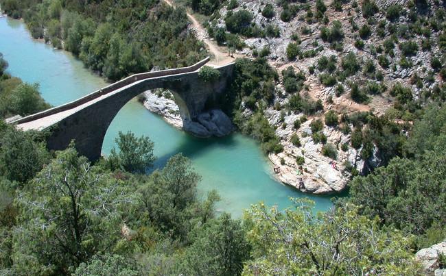 pont romain  de rodellar.JPG