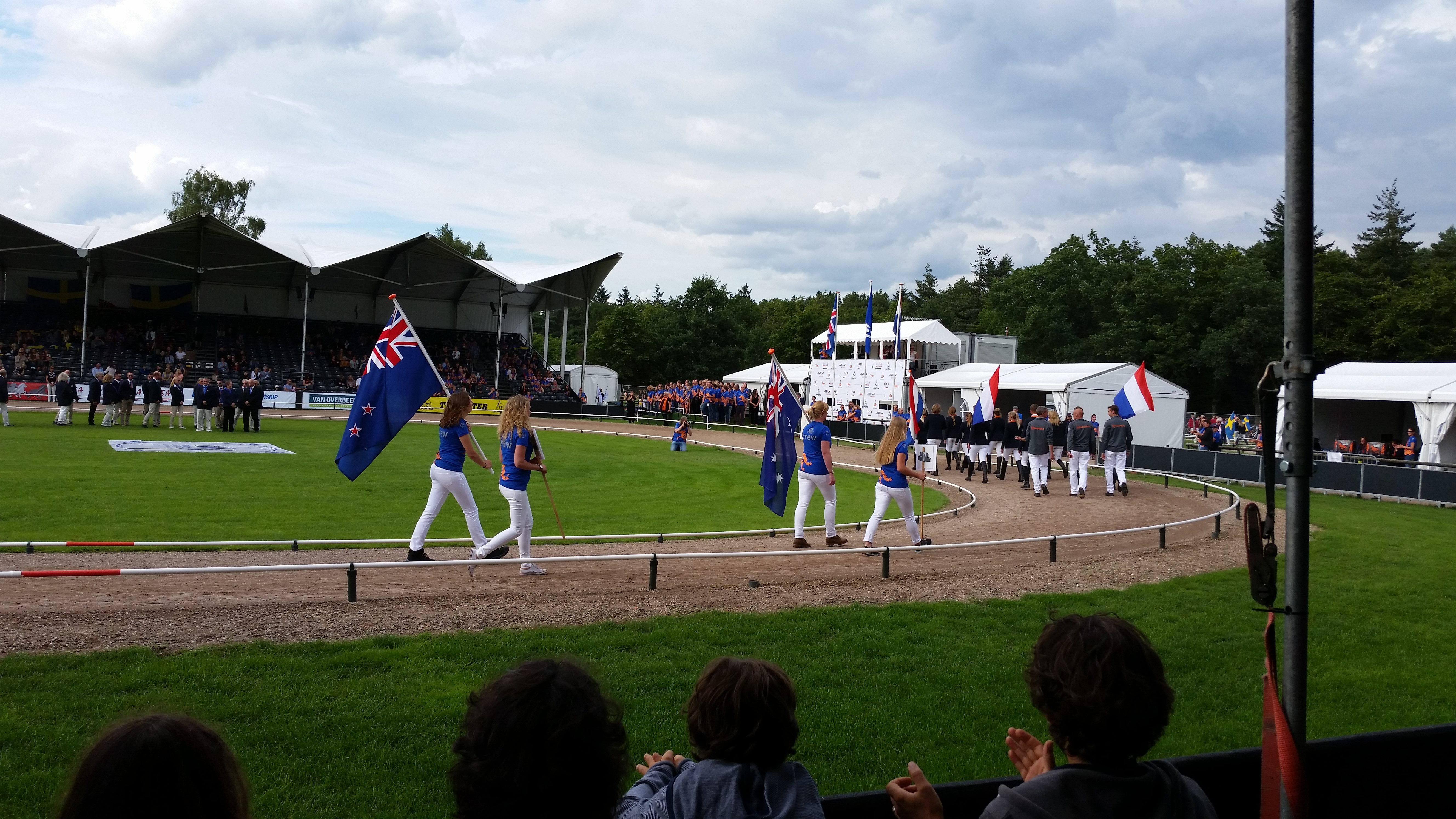 AUS annd NZ flags in Oirschot