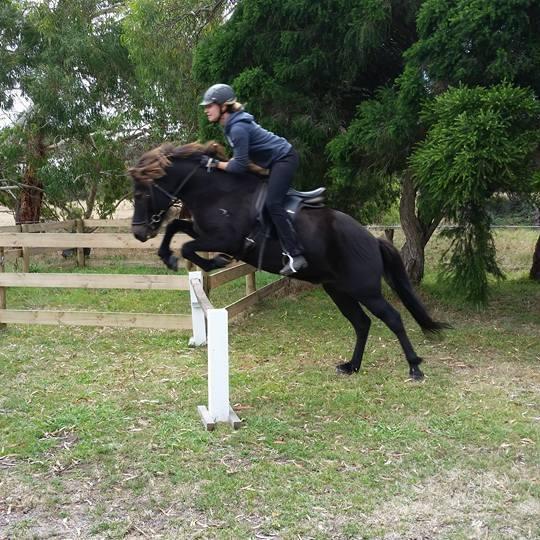 Falinn jumping