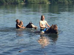 Swimming with Iceys in a lake near Altenberge