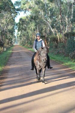 Askja from Litli Stadur, one of her first trail rides