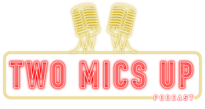 Two Mics Up Logo