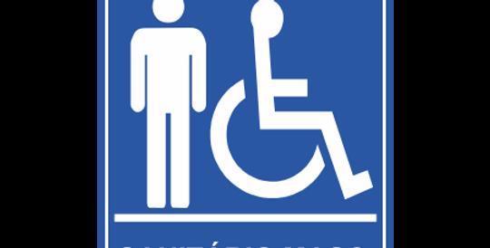 Placa Sanitário Masculino Acessível