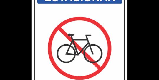 Placa Proibido Estacionar Bicicletas