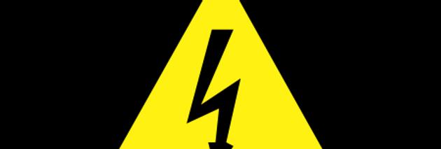Placa de Sinalização Advertência Risco de Choque