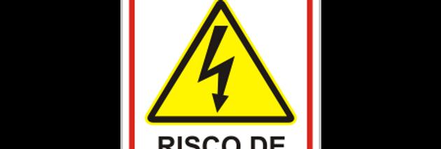 Placa de Sinalização de Alerta Perigo Choque