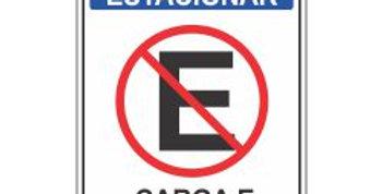 Placa Proibido Estacionar Carga e Descarga