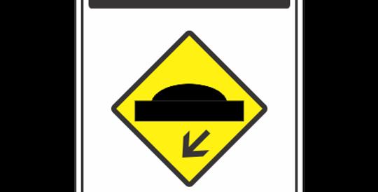 Placa Atenção Lombada a Esquerda
