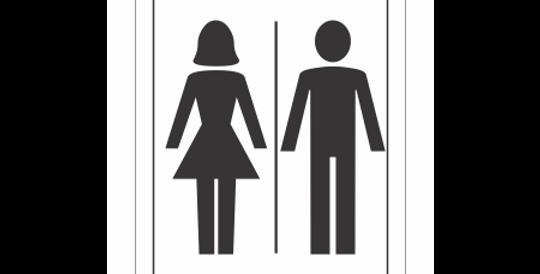 Placa de Sinalização Banheiro Unisex