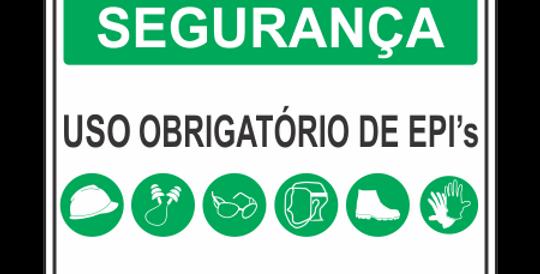 Placa de EPI Uso Obrigatório