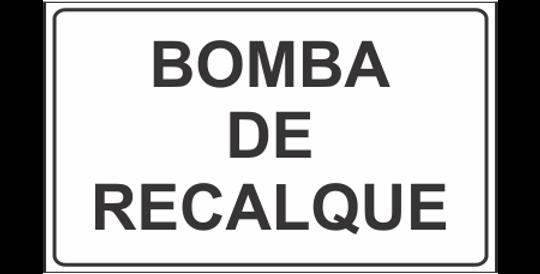 Placa Casa de Bomba de Recalque
