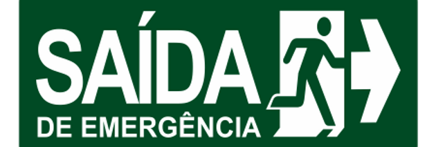 Placa de Sinalização de Saída de Emergência a Direita