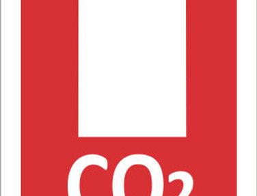 Placa de Sinalização de Extintor CO2