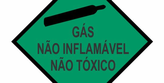 Placa Simbologia de Risco Gás Não Inflamável