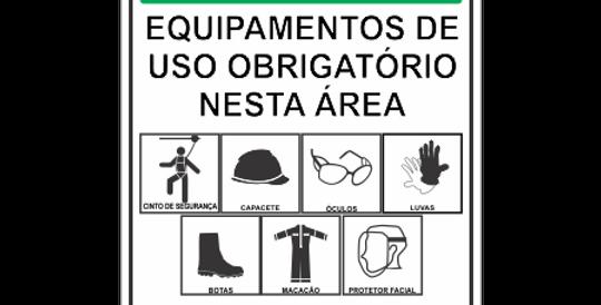 Placa de Equipamentos de Uso Obrigatório