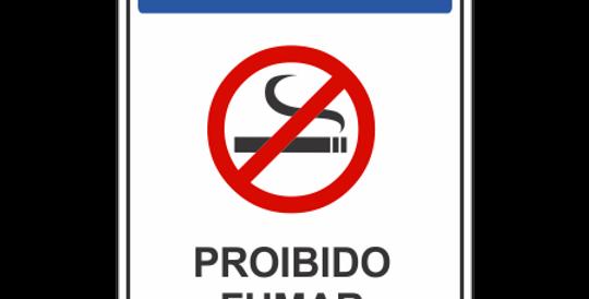 Placa Aviso Proibido Fumar